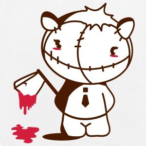 A Monster Kawaii figure   with a bloody ax Bags  - EarthPositive Tote Bag