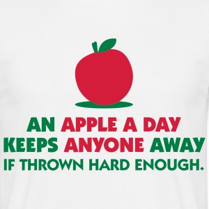 An Apple A Day 1 (2c)++ T-Shirts - Men's T-Shirt