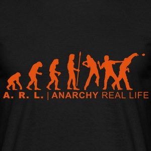 evolution_anarchy1 T-Shirts - Männer T-Shirt