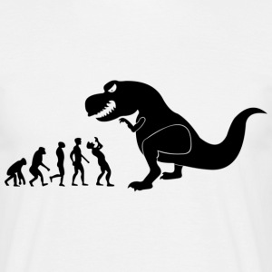 March of man, Dino end - Men's T-Shirt