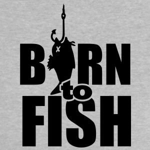 born to fish (vissen, b, 1c) Baby shirts - Baby T-shirt