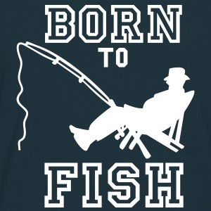 born to fish (Angeln, c, 1c) T-Shirts - Männer T-Shirt