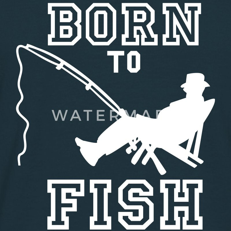 born to fish (fiske, c, 1c) T-skjorter - T-skjorte for menn
