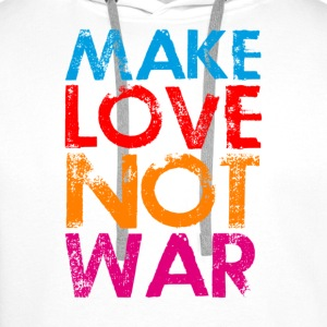 Make love not war colorfull - Männer Premium Hoodie