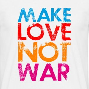 Make love not war colorfull - Männer T-Shirt
