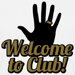 Welcome to Club | left Hand | link Hand T-Shirts - Männer T-Shirt