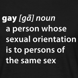 Definition Gay T-Shirts - Männer T-Shirt