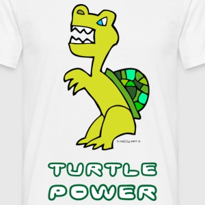 T-Shirt Mann Turtle Power 02 © by kally ART® - Männer T-Shirt