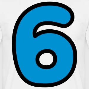 Comic Number 6 (2c)++ T-shirts - Mannen T-shirt