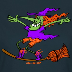 Crazy Witch Surfing on her Broom T-Shirts - Women's T-Shirt