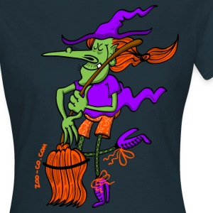 Crazy Witch Dancing with her Broomstick T-Shirts - Women's T-Shirt