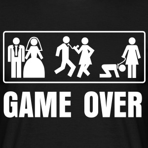suchbegriff game over ehe t shirts spreadshirt. Black Bedroom Furniture Sets. Home Design Ideas
