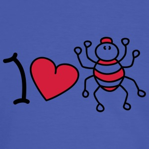 I love spiders T-Shirts - Men's Ringer Shirt
