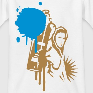 A sprayer with spray can in  graffiti style  Kids' Shirts - Teenage T-shirt