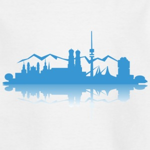 München Munich Skyline - Teenager T-Shirt