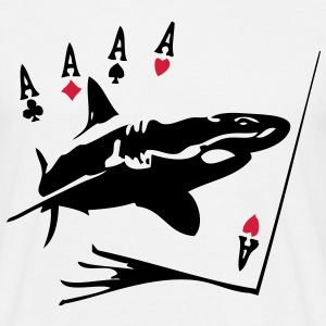 carte poker requin3 T-shirts - T-shirt Homme