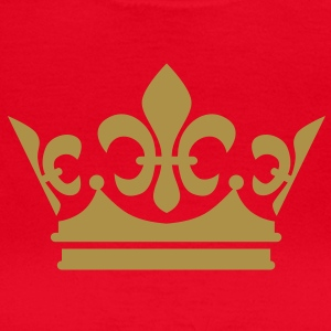 Krone Crown Gold-Glitzer - Damen T-Shirt rot + alle Farben - Frauen T-Shirt