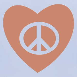 PEACE AND LOVE - Baby Organic Bib