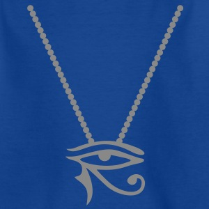 Perlenkette mit Eye of Horus | Kindershirt - Teenager T-Shirt