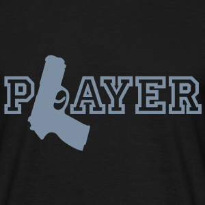 Player | Gun | Waffe T-Shirts - T-skjorte for menn
