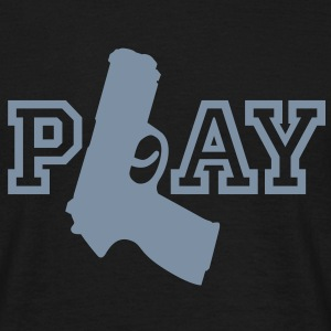 Play | Gun | Waffe T-Shirts - T-skjorte for menn