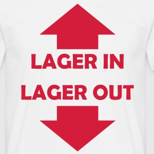 lager in lager out T-Shirts - Männer T-Shirt