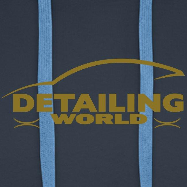 Detailing World 'Gold Metallic' Logo Hooded Fleece Top