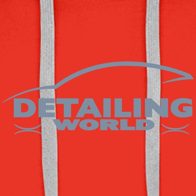 Detailing World 'Silver Metallic' Logo Hooded Fleece Top