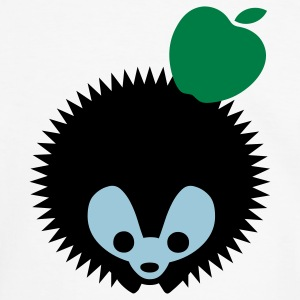 hedgehog_apple2 T-Shirts - Men's Ringer Shirt