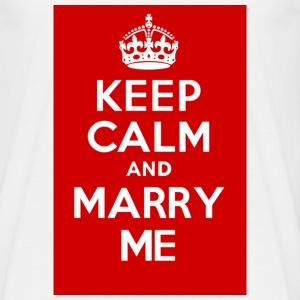 KEEP CALM and MARRY ME red - Men's T-Shirt
