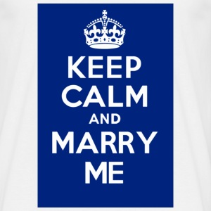 KEEP CALM and MARRY ME blue - Men's T-Shirt