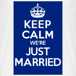 KEEP CALM were JUST MARRIED blue - Men's T-Shirt