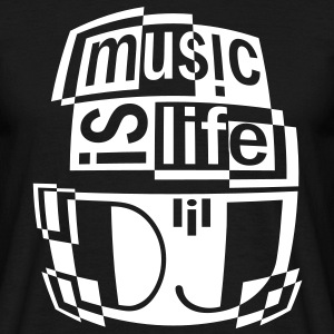 MUSIC IS LIFE DJ Tee shirts - T-shirt Homme