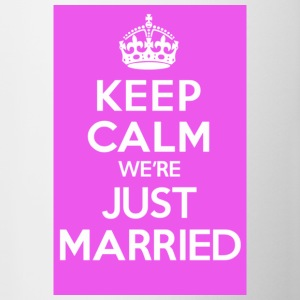 KEEP CALM we're JUST MARRIED - Mug