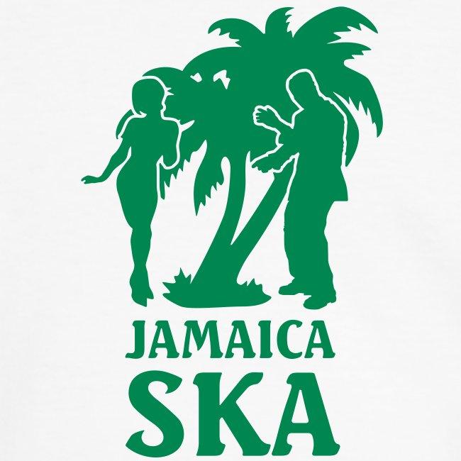 gelbgrünes Männer-Kontrastshirt Jamaica Ska Dancer 3 flock