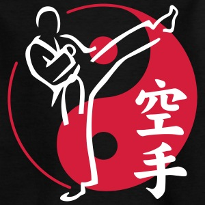 KARATE mit Yin & Yang Symbol | Kindershirt - Teenager T-Shirt