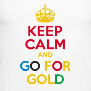 Keep Calm and Go for Gold - Men's Long Sleeve Baseball T-Shirt