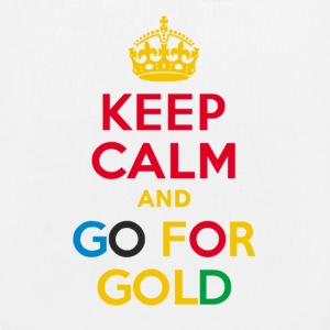 KEEP CALM and GO FOR GOLD - EarthPositive Tote Bag