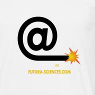 Motif ~ Arobase etincelle blanc