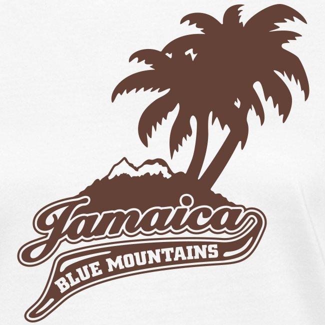 weisses Frauen-Bio-Shirt Jamaica Blue Mountains flock