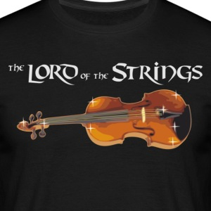 Lord of the Strings - text weiß T-Shirts - Männer T-Shirt