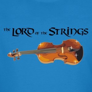 Lord of the Strings - text schwarz T-Shirts - Männer Bio-T-Shirt
