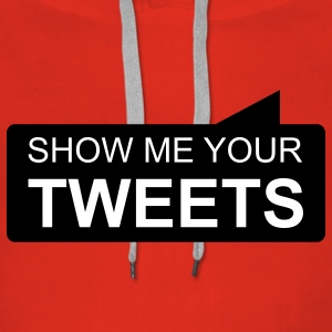 show me your TWEETS Gensere - Premium hettegenser for kvinner