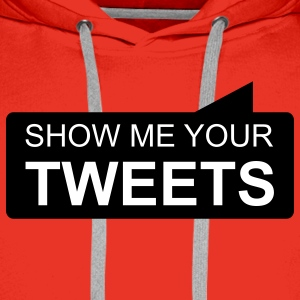 show me your TWEETS Gensere - Premium hettegenser for menn