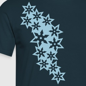 ninja_star_design_outline_1c T-Shirts - Männer T-Shirt