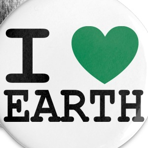I *heart* Earth - Buttons large 56 mm