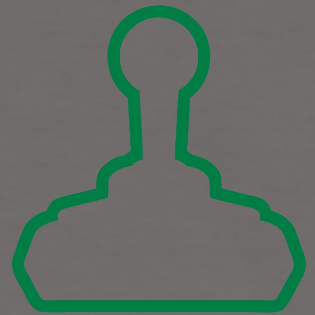 Midlife Gamer Joystick (green) - Retro T