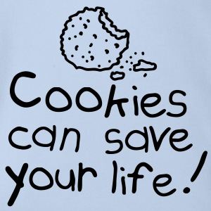 Cookies can save your life Babybody - Ekologisk kortärmad babybody