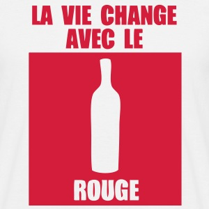 vie change avec rouge Tee shirts - T-shirt Homme