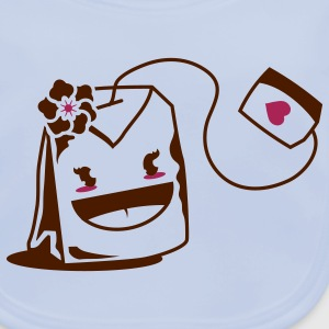 Teabag with kawaii face Accessories - Baby Organic Bib